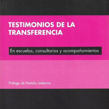 Presentación del libro «Testimonios de la transferencia»