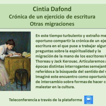 Jueves 7 de mayo: Cintia Dafond – Inscríbase aquí