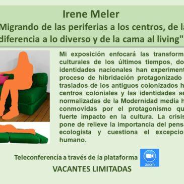 Jueves 18 de junio: Irene Meler – Inscríbase aquí