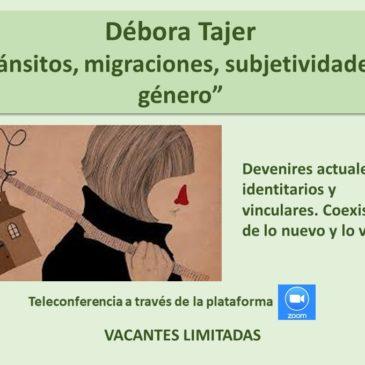 Jueves 4 de junio – Débora Tajer – Inscríbase aquí