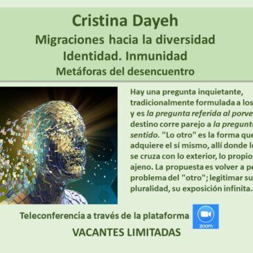 Jueves 16 de julio: Cristina Dayeh