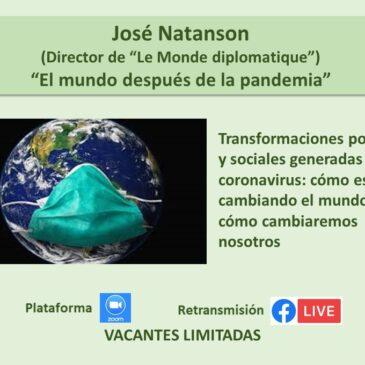 Jueves 12 de noviembre – José Natanson