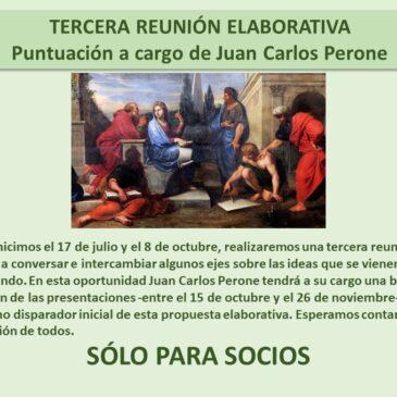 Jueves 3 de diciembre – Tercera reunión elaborativa