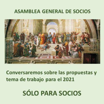 Jueves 12 de noviembre – ASAMBLEA GENERAL DE SOCIOS