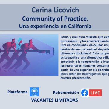 Jueves 15 de abril – Carina Licovich